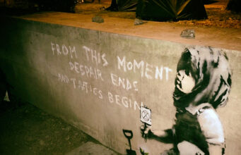 Banksy Marble Arch London